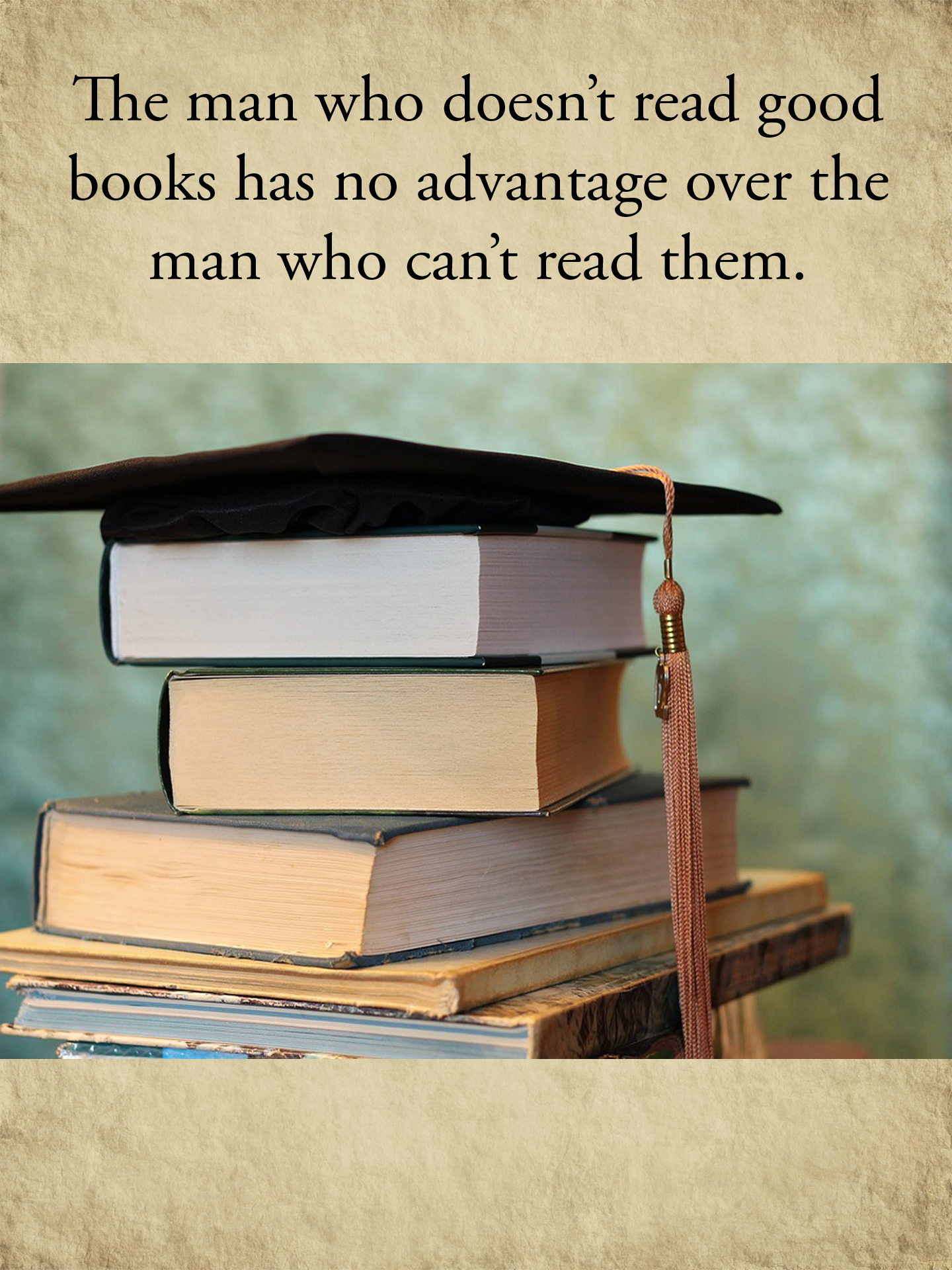 Books and Cap